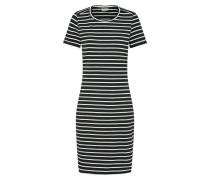 Kleid im Streifenmuster schwarz / weiß