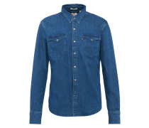 Jeanshemd 'Barstow Western' blau