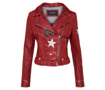 Lederjacke 'courtney' feuerrot