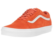 Sneaker 'Old Skool' neonorange / weiß