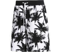 Shorts ' Palm Tree ' schwarz / weiß