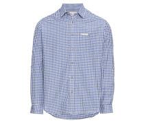 Hemd 'Hemd Campos3' blau / weiß