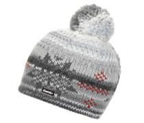 Mütze grau / weiß / dunkelrot