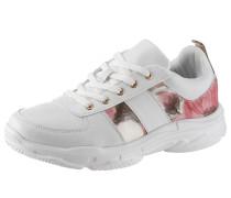 Sneaker weiß / dunkelpink
