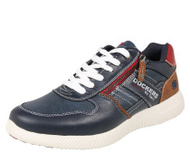 Sneaker taubenblau / rot / weiß