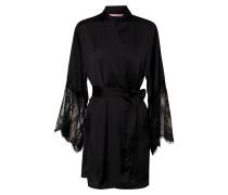 Morgenmantel 'Kimono Lace' schwarz