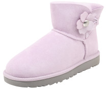 Snowboots 'Mini Bailey Button Poppy' lavendel