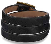 Armband Kunstleder schwarz
