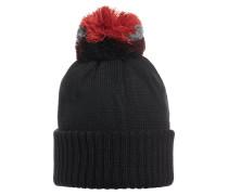 Mütze grau / rot / schwarz