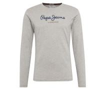 Shirt 'eggo Long' dunkelblau / grau