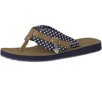 Sandale navy / braun / weiß