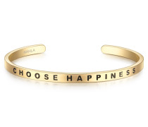 Armreif Bangle mit Schriftzug Choose Happiness