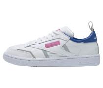 Sneaker weiß / pink / blau / grau