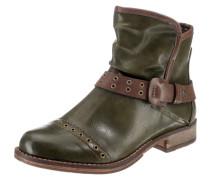 Biker Boots braun / oliv