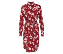 Kleid 'Floral Tie Waist' bordeaux