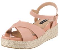 Sandaletten 'New Cuma' altrosa / naturweiß
