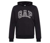 Sweatshirt 'arch PO HD' schwarz / weiß