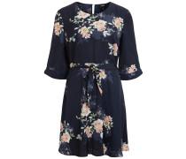 Blumenmuster Kleid nachtblau / mischfarben