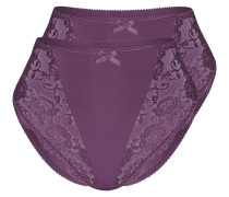 Miederslip 'classic Lace' beere / dunkellila