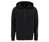 Kapuzensweatjacke 'essentials Linear Full-Zip Hood Fleece'