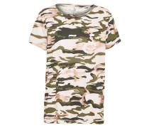 T-Shirt 'layla' grün / rosa