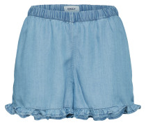 Shorts 'onlGIGI Frill' blue denim