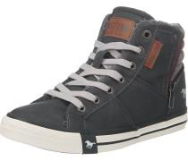 Sneaker in Leder-Optik anthrazit