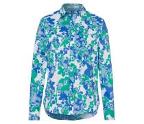 Bluse blau / hellblau / hellgrün / weiß