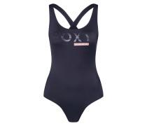 Badeanzug 'RO FI SD SP O P J' schwarz / weiß