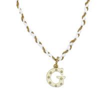 Halskette goldgelb / weiß