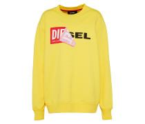 Sweatshirt mit Logo gelb