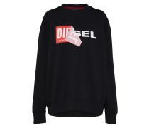 Sweatshirt mit Logo schwarz