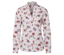 Bluse lila / weiß