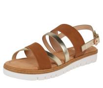 Sandale 'dama' braun / silber