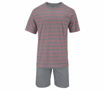 Pyjama kurz Shorty mit Blockstreifen