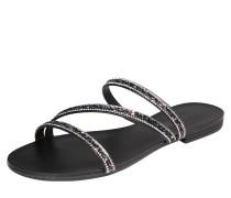 Sandale 'Nil' schwarz / silber