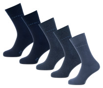 5 Paar Socken blau