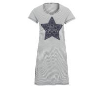 Nachthemd mit Spitzenbesatz navy / weiß