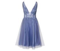 Kleid 'short RAY Beads' blau / silbergrau