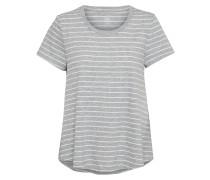 T-Shirt 'swing' grau / weiß