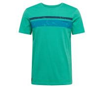 Shirt 'hake' blau / jade / navy
