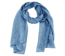 Langer Schal aus Slub Yarn blau
