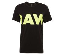 T-Shirt 'Vilsi r t s/s' gelb / schwarz
