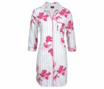 Dreams Nachthemd mit Streifen und Blumenprint
