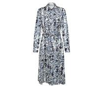 Kleid 'Alessandra' creme / rauchblau