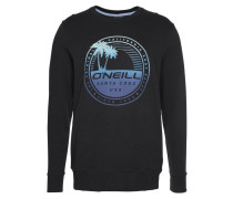 Sweatshirt 'Palm Island' marine / schwarz