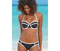 Balconette-Bikini schwarz / weiß