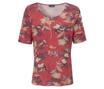 Rundhals-Shirt mit Blüten-Print rot