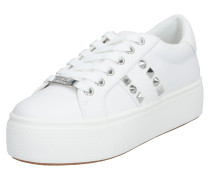 Sneaker 'escala' silber / weiß