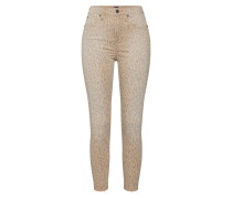 Jeans 'TR Skinny HR Ankle Leopard Print' beige